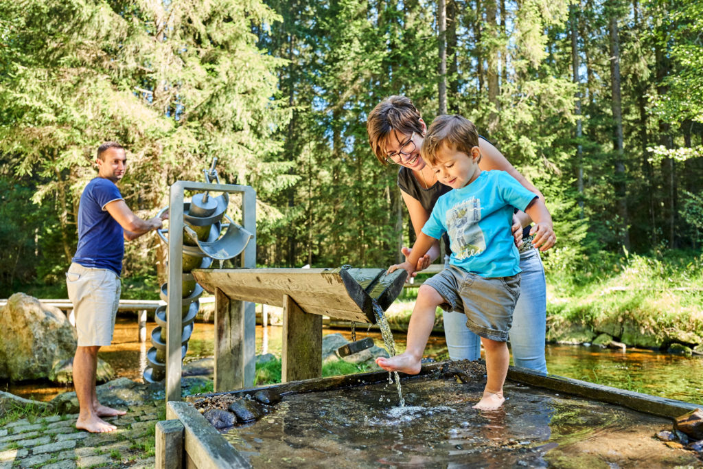 Die Kneippanlagen in der Ferienregion Nationalpark Bayerischer Wald erfrischen Körper und Geist